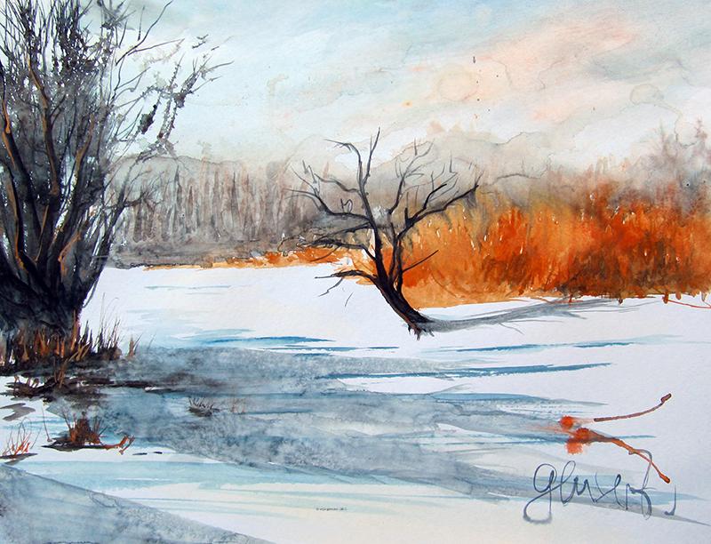 Winter kopie - Aquarell weihnachten ...